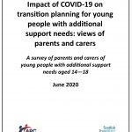 Survey report: parents and carers on the impact of COVID-19 on transition planning