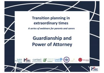 Click to hear the recording of Guardianship and Power of Attorney