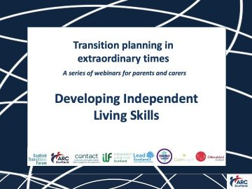 Click to hear the recording of Developing Independent Living Skills