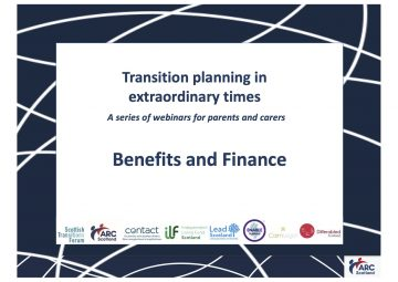 Click to hear the recording of Benefits and Finance